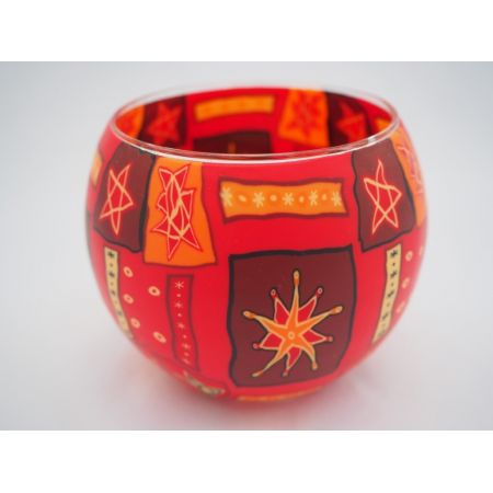 Candlemania - Hv Glowing Globe Candle Holder Red Star