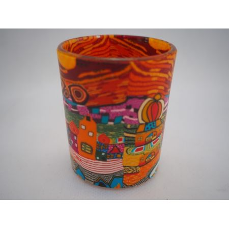 Candlemania - Hv Glowing Votive Holder Orange Town