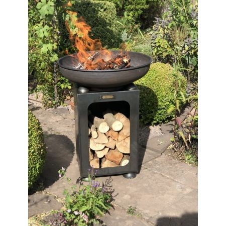 Firepits UK - Firebowl With Log Store
