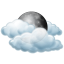 Friday: Mostly cloudy